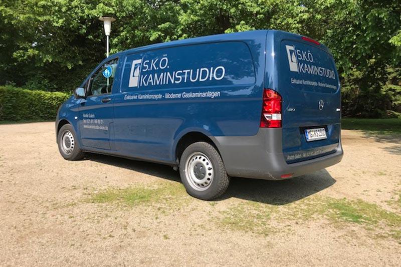 S.K.Ö. Kaminstudio - Firmenwagen Lieferung und Montage